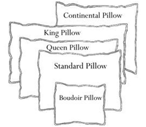 What Is The Size Of A Pillow by Common Pillow Size Diagram Flandb