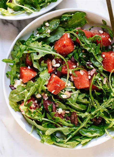 watermelon recipe michele and karen s delicious arugula salad