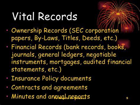 Vital Records Vital Records Management