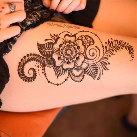 henna tattoo design for legs best 25 henna thigh ideas on mandala