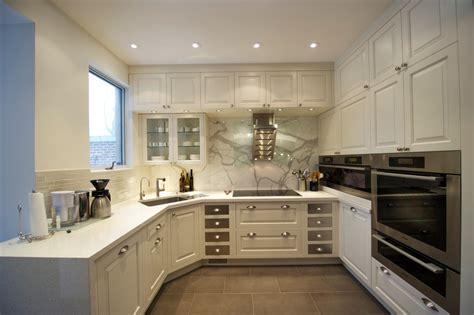 kitchen without island u shaped kitchen designs without island for small house using white cabinet and storage nytexas