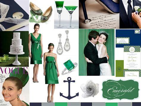 emerald navy emerald and navy wedding pantone wedding styleboard