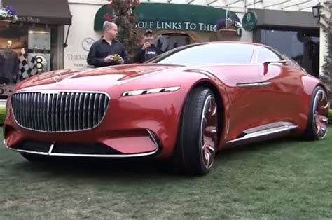 maybach mercedes concept watch the mercedes maybach vision 6 move via remote