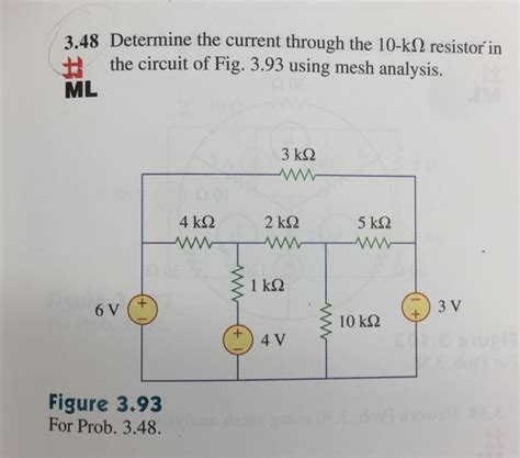 what is the current through a 10 ohm resistor connected to a 120 v power supply determine the current through the 10 k ohm resisto chegg