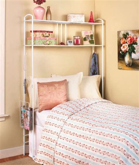 dorm bed shelf new over the bed storage dorm room space saver metal unit