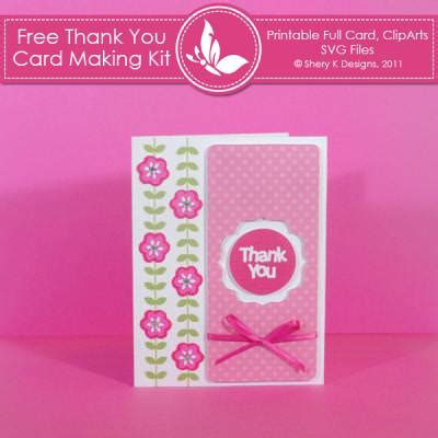 printable papers for card thank you card kit free printable card tip junkie
