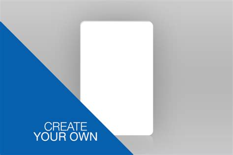 make your own identity card single sided portrait id card create your own
