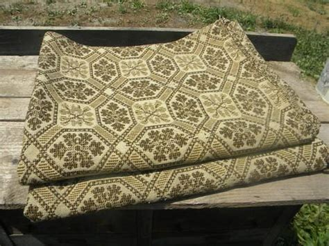 woven coverlet reproduction antique woven wool coverlet fabric vintage pieced cloth
