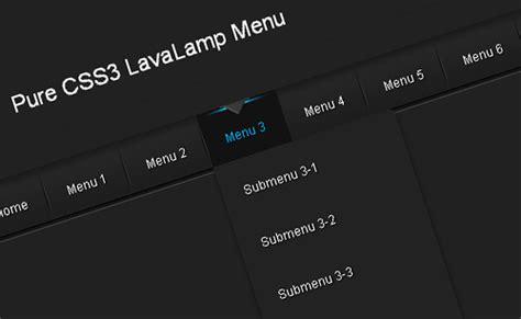 design menu bar using html 20 pure css navigation bars and menu generators