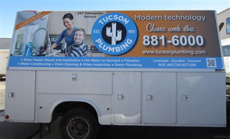 Plumbing Supply Tucson by Utility Truck Wrap For Tucson Plumbing Innovative Signs