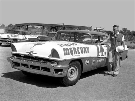 lincoln ford credit billy myers 14 mercury monterey nascar race car 1956