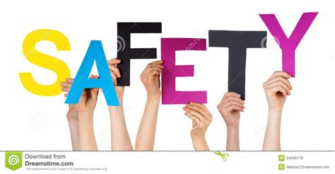 Character Building Letter Many Holding Colorful Word Safety Stock Image Image 54035179