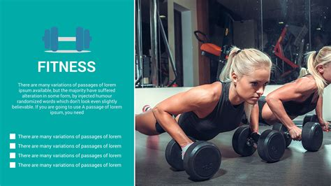 fitness powerpoint presentation template by rengstudio