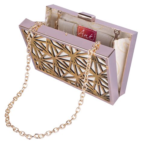 Shopping Magnes Gold Clutch by Buy Ank Gold White Clutch Clutches