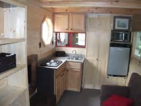 good tiny kitchen table #2: tiny-house-log-cabin-on-a-trailer-03.jpg