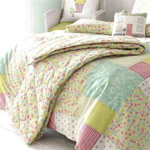 Kids Duvet And Pillow Set Luella Spring Quilted Bed Throw Kirstie Allsopp