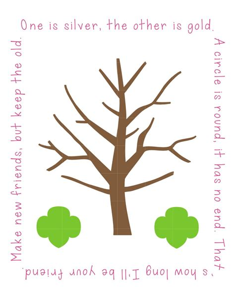 friendship tree template friendship tree free printable use gold or silver ink for
