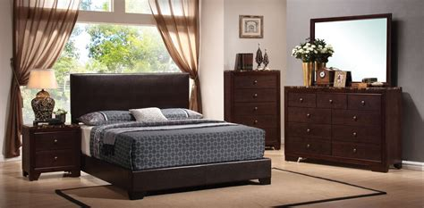 conner dark brown low profile bedroom set from coaster