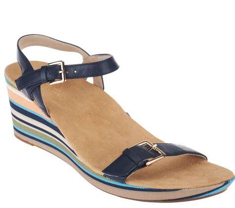 orthaheel wedge sandals vionic by orthaheel enisa navy wedge sandals ebay
