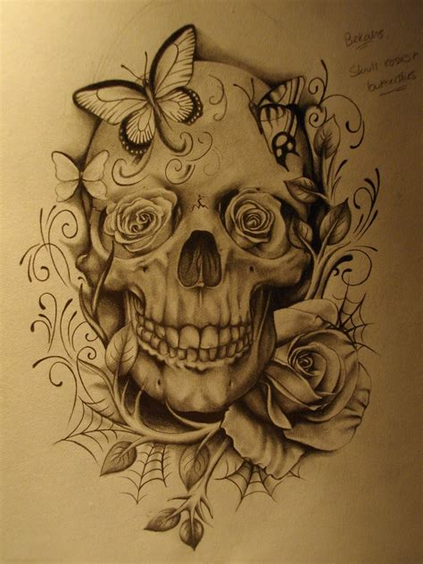 skull and roses 1 by sammydodger1 on deviantart