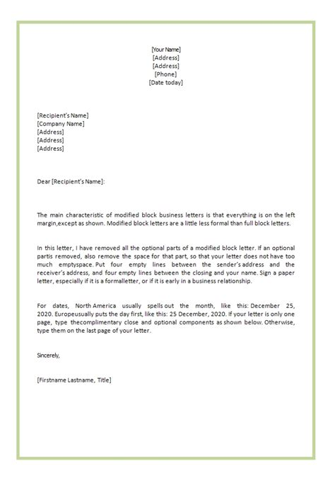 Formal Letter Template Uk To Whom It May Concern Business Letter To Whom It May Concern The Letter Sle