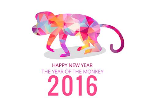 new year 2016 monkey free vector 2016 year of monkey free vector stock