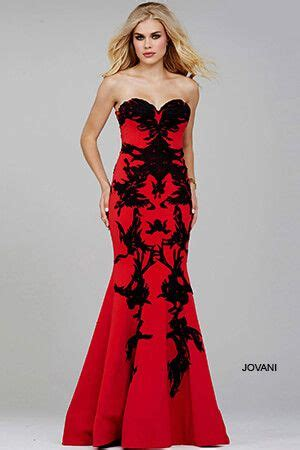 black strapless mermaid prom dress 29031 prom hair makeup and dresses