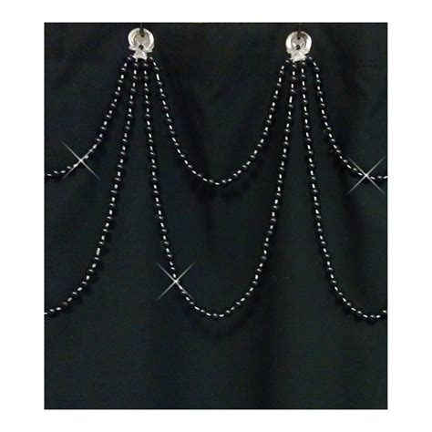 shower curtain bling sale black pearl double swag shower curtain bling