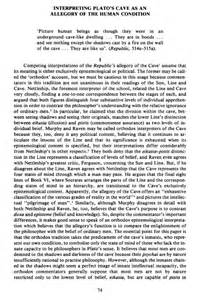 Platos Definition Of Justice Essays by Interpreting Plato S Cave As An Allegory Of The Human Condition Apeiron