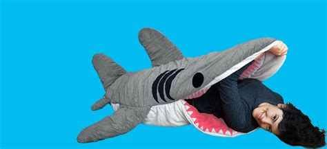 chumbuddy shark plush toy and sleeping bag for adult and kids