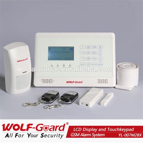 battery operated home security system alarm with sim auto