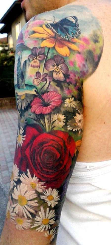 tattoo flower half sleeves beautiful flower half sleeve tattoo tattoo shortlist