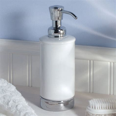 soap dispensers for bathrooms white soap dispenser and matching bathroom accessories by