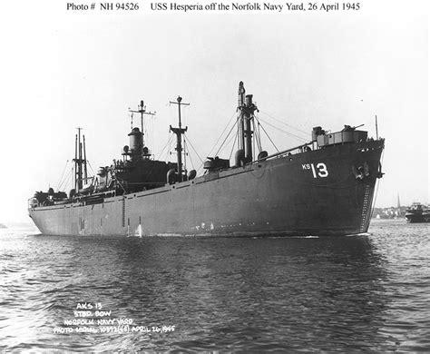 Ip20390 Sanlist Navy usn ships uss hesperia aks 13