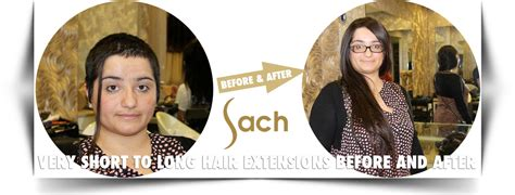extensions on very very short hair very short to long hair extensions before and after sach