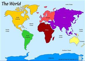 map of continents and oceans continents and oceans is cool