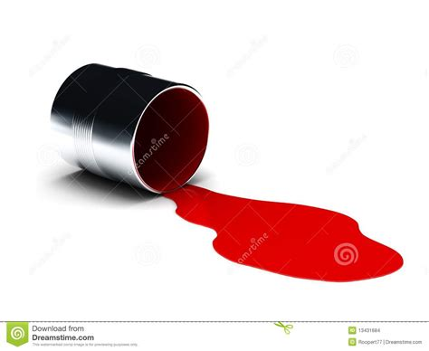 Toner Rossa vernice rovesciata rossa illustrazione di stock