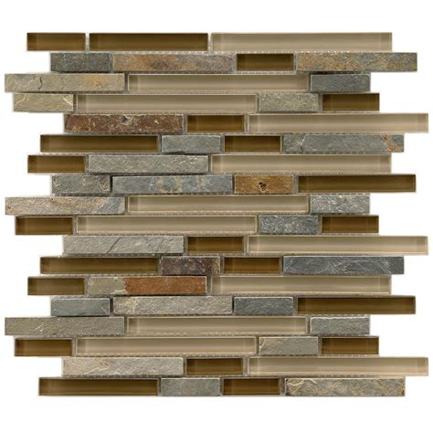 home depot glass tile backsplash merola tile tessera piano brixton 11 5 8 in x 11 3 4 in