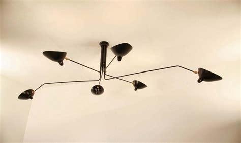 serge mouille lade serge mouille ceiling l 6 rotating arms v 230 gler