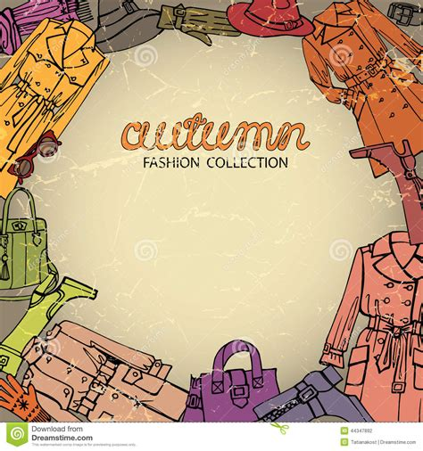 fashion vector background pattern fashion clothes background autumn woman wear stock vector