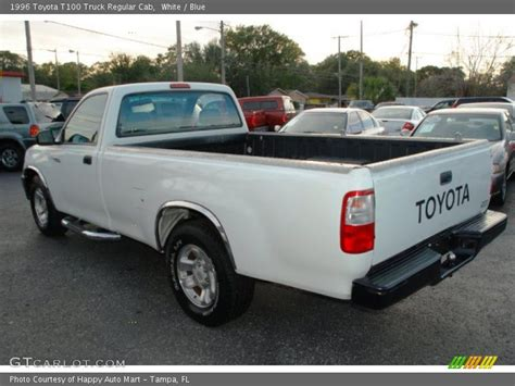 white toyota truck 1996 toyota t100 truck regular cab in white photo no