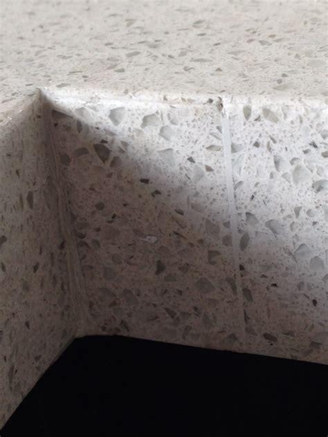 Seamless Quartz Countertops by Quartz Countertop Seam Inside Corner Of Quot L