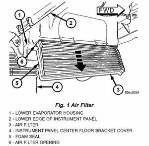 dodge ram cabin air filter location get free image about
