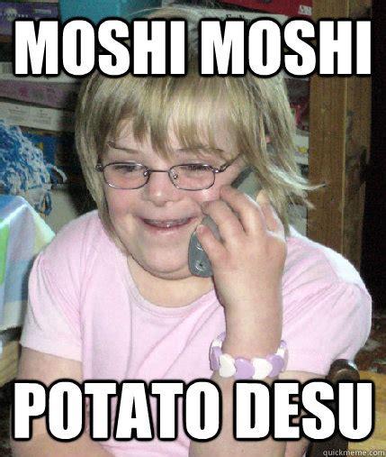 Moshi Moshi Meme - moshi moshi potato desu heidi crowtato quickmeme