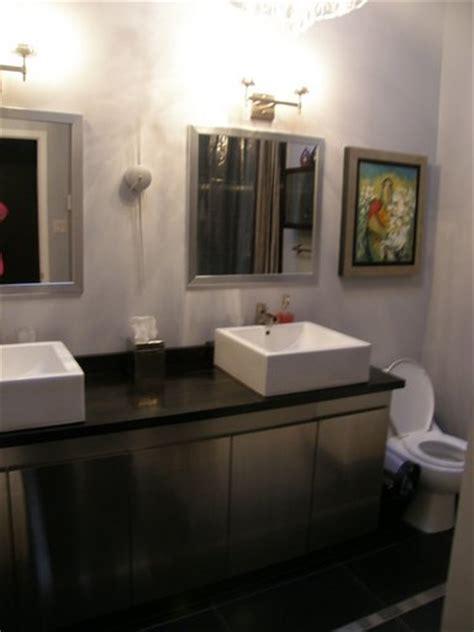 using ikea kitchen cabinets in bathroom vanity using ikea fastbo panels stainless ikea kitchen