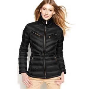 Kors women s black michael packable quilted cinchable down puffer coat