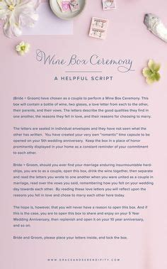 wine box love letter ceremony sample wedding ceremonies