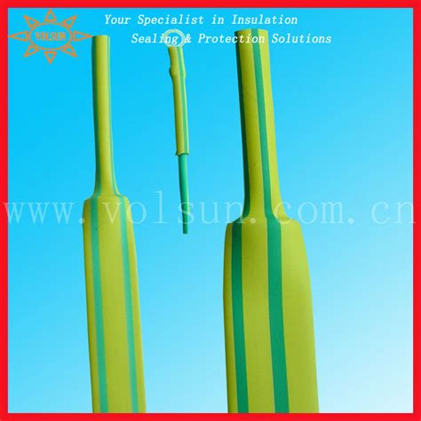 green and yellow ground wire rhos heat shrinkable green yellow ground wire buy green