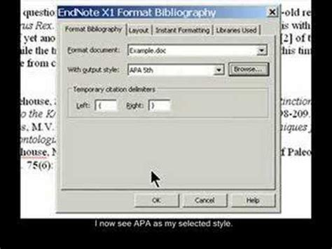 youtube tutorial endnote endnote xi tutorials format bibliography youtube