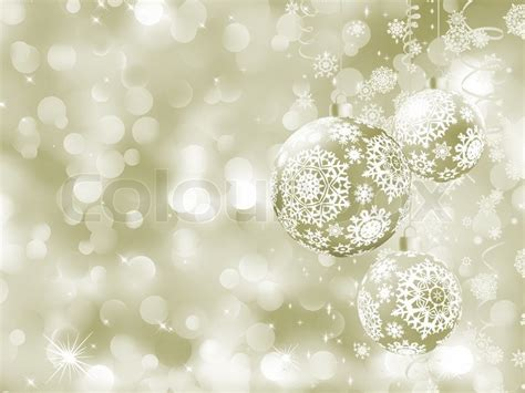 elegant christmas balls on abstract background stock